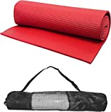 Yoga Mat 6mm thick Red EVA - Extra Large Anti skid Yogamat for Gym workout and flooring exercise - Long size yoga mate for men women & with Bag Cover