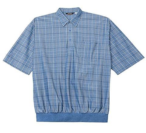 LD Sport Big and Tall Short Sleeve Box Banded Bottom Shirt (Navy 3X-T) - Banded Box