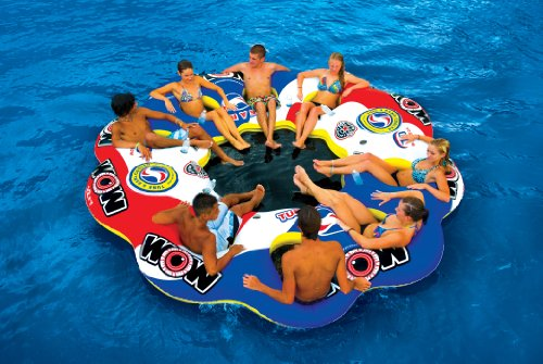 WOW World of Watersports, 13-2060 Tube A Rama, 10 Person Inflatable Floating Island, 12 Foot Diameter by WOW Sports (Image #2)