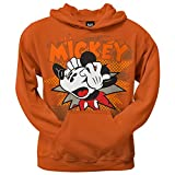 Mickey Mouse - Freakin' Out Pullover Hoodie Sweatshirt small Orange