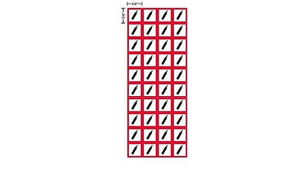 kit OSHA Compliant 40 of the decals per sheet .625 sides sheet decal GHS Environmentally Damaging hazard label 5//8 Vinyl Sticker pictogram environment