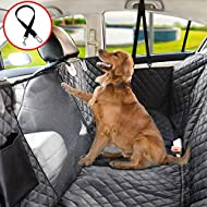 Vailge Dog Seat Cover for Back Seat, 100% Waterproof Dog Car Seat Covers with Mesh Window, Scratch Proof Nonslip Dog Car Hammock, Car Seat Covers for Dogs, Dog Backseat Cover for Cars SUV - Standard