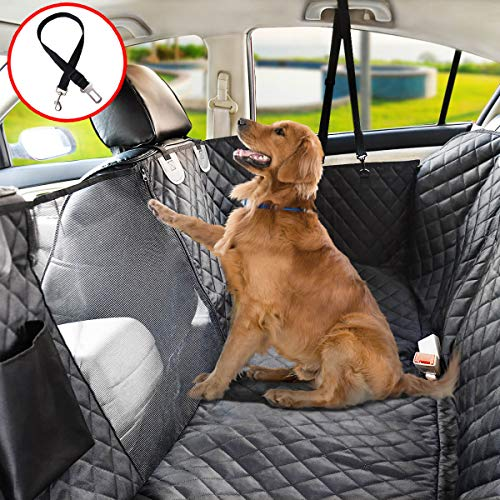 Vailge Dog Seat Cover for Back Seat, 100% Waterproof Dog Car Seat Covers with Mesh Window, Scratch Proof Nonslip Dog Car Hammock, Car Seat Covers for Dogs, Dog Backseat Cover for Cars SUV – Standard
