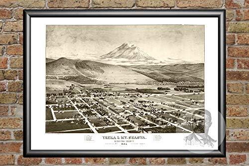 Art print POSTER Mt Shasta