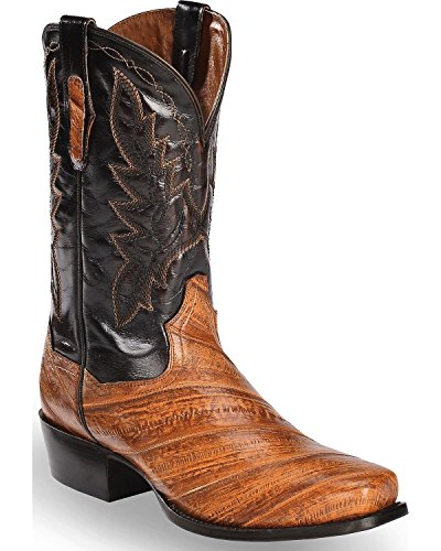 one EEL Cowboy Boot Square Toe Rust Copper 11 EE ()
