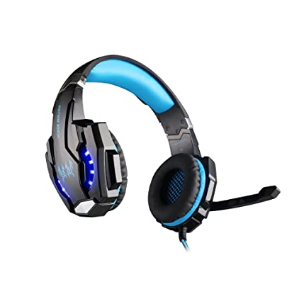 Amazon.com: KOTION EACH G9000 USB 7.1 Surround Sound Version Game Gaming Headphone Computer Headset Earphone Headband with Microphone LED Light Black+Blue: ...
