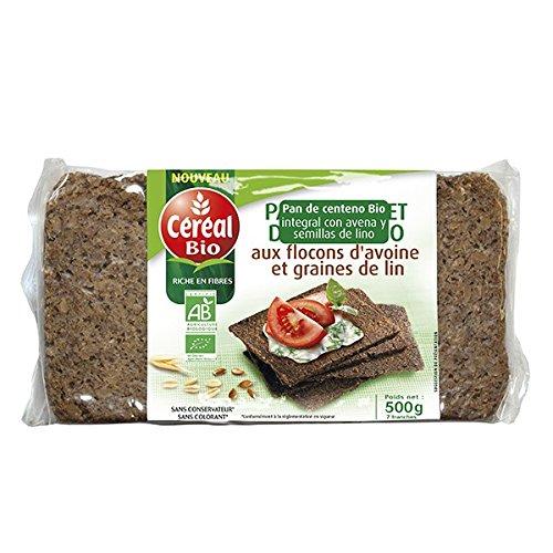 Pan De Centeno Bio Integral Con Avena Cebada Y Lino Cereal Bio 500 G: Amazon.es: Alimentación y bebidas