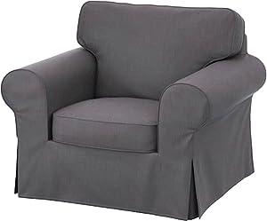 Amazon.com: Heavy Cotton for IKEA Ektorp 3 Seat Sofa Cover ...