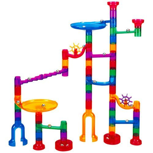 Marbulous-Translucent Marble Run (48 pieces plus 16 marbles) by Toto