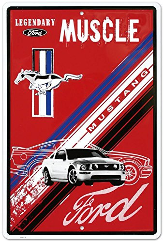 (Ford Mustang Legendary Muscle Car Retro Vintage Tin Sign)