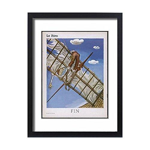 Framed 24X18 Print Of Don Quixote a Windmill (624620)