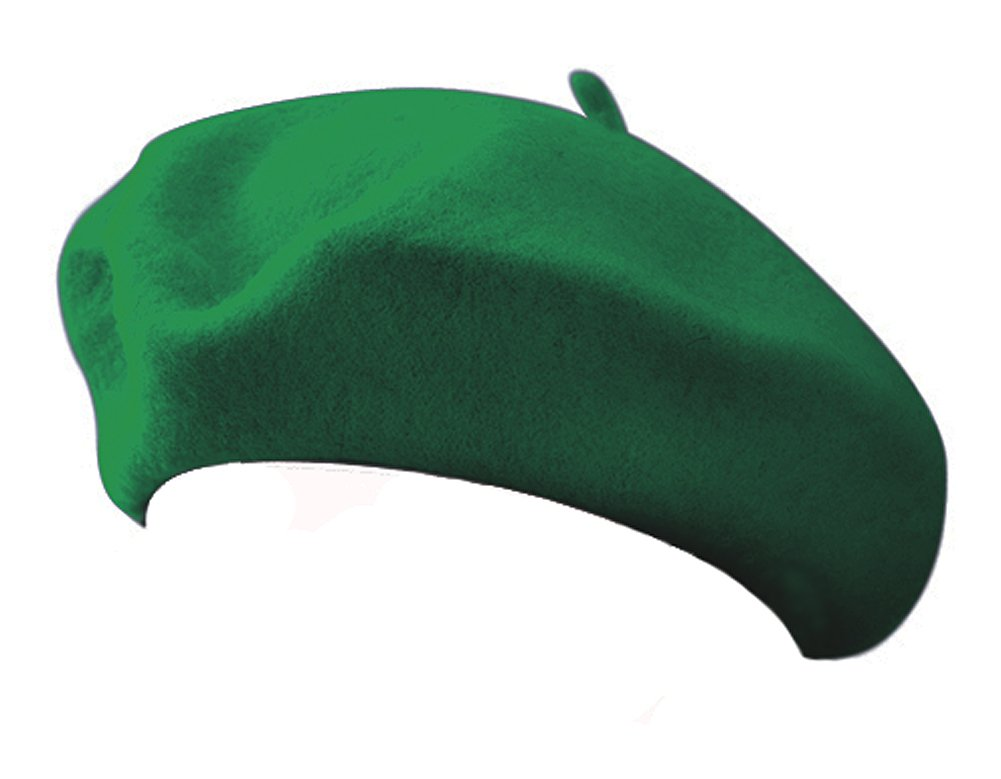 Classic 100% Wool Green French Beret Jacobson Hat Co.