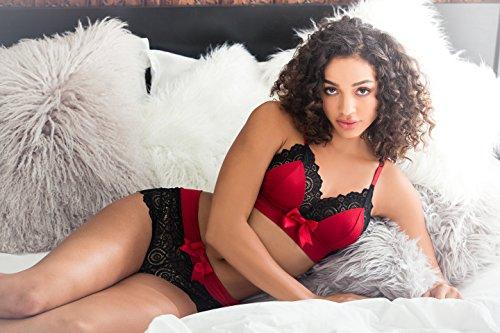 Leg-Avenue-Womens-2pcLace-Trimmed-Satin-Spandex-Bralette-and-Boyshorts