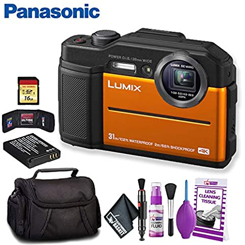 - 51saMC0HrRL - Panasonic Lumix DC-TS7 Digital Camera (Orange) Deluxe Bundle