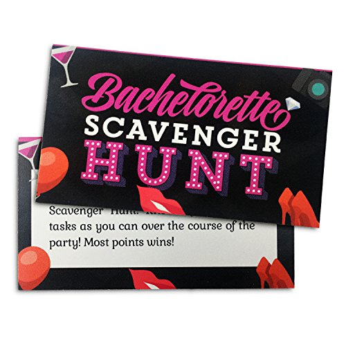 Bachelorette Party Game - Naughty Scavenger Hunt - Diamond Tiffany Single Light
