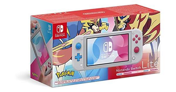 Nintendo Switch Lite - Consola Edición Zacian y Zamazenta, (Lite) - Gris (Ed. Pokémon), Edición Limitada: Nintendo: Amazon.es: Videojuegos