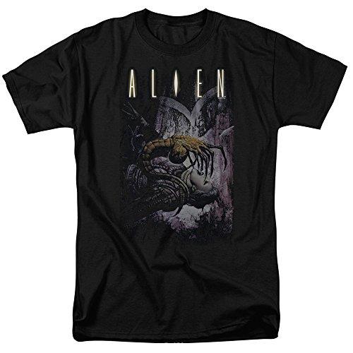Black Hugger T-shirt (Trevco Men's Alien Short Sleeve T-Shirt, Hugger Black, Medium)