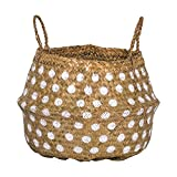 Seagrass Basket with Dots