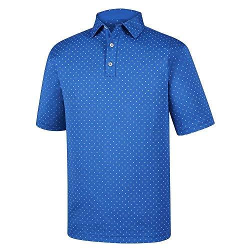 Diamond Print Lisle Self Collar (Blue Marlin/White, (Footjoy Performance Rain Shirt)