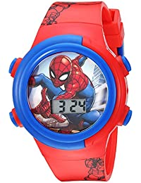 Boys' Quartz Watch with Plastic Strap, red, 16.5 (Model: SPD4480)