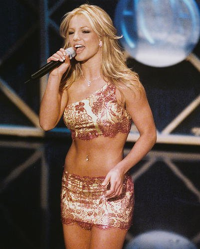 [Britney Spears Sexy Costume Concert 8x10 HD Aluminum Wall Art] (Britney Spears Concert Costumes)