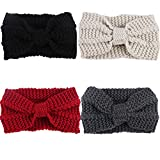 CN Women Girls Knit Wool Headbands Hair Wraps Ear Warmer Winter Hairband