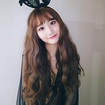 Amazon Com Long Curly Hair Wig Women Girls Female Thin Air