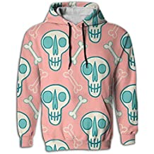 Have Fun Sugar Flower Skull Graphic Novelty Hoodie Tie Dye Hooded