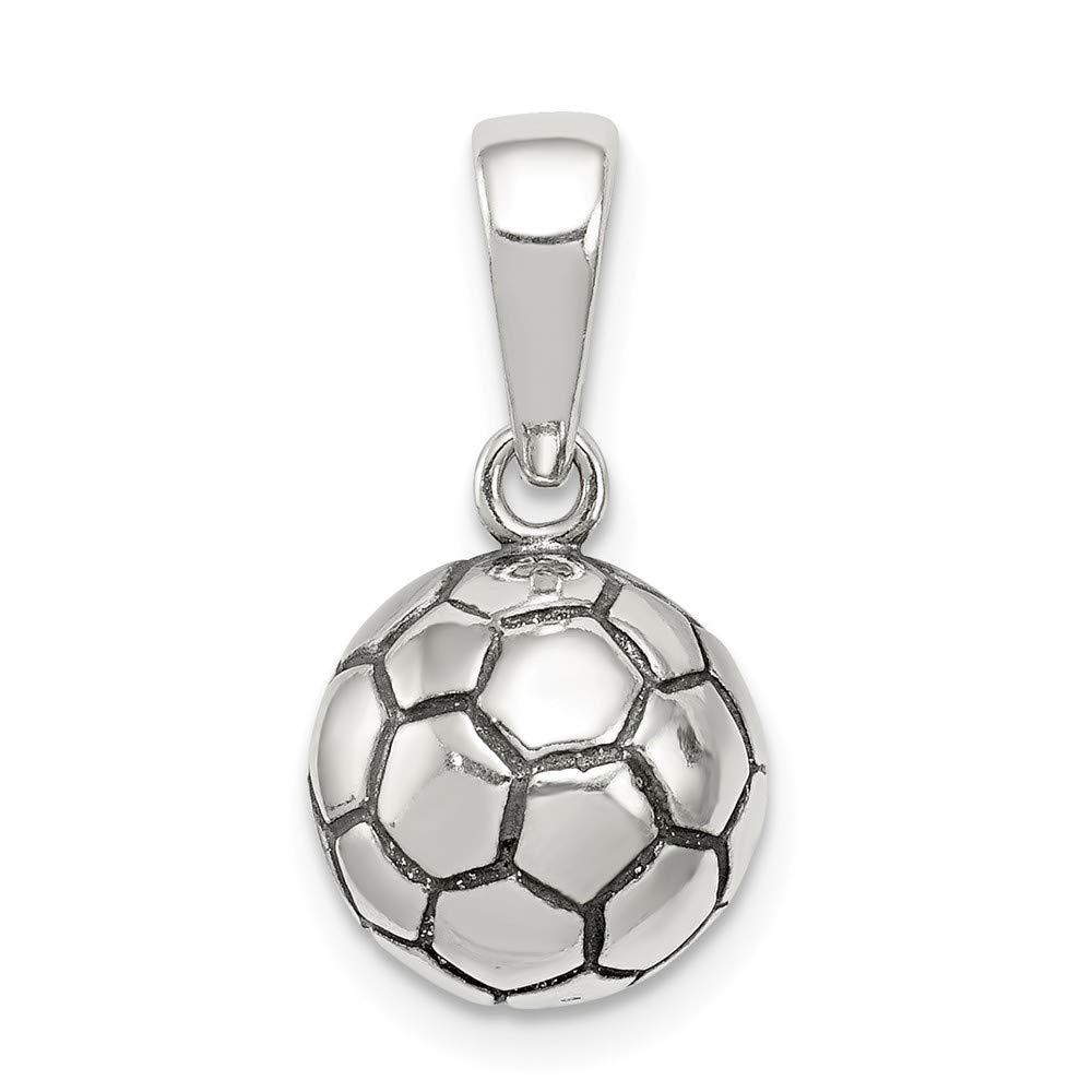 Sonia Jewels Colgante de balón de fútbol de Plata de Ley 925 ...