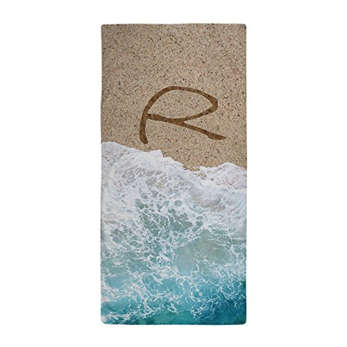CafePress - LETTERS IN SAND R - Large Beach Towel, Soft 30