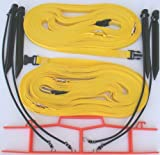 Home Court Volleyball Non-Adjustable Sand Boundary Web, Yellow, 1''