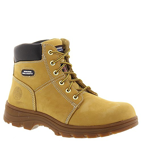 (Skechers Work Relaxed Fit Workshire Mens Steel Toe Boots Wheat 13)