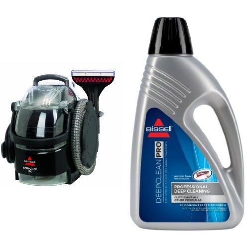 Professional Deep Cleaning Bundle - SpotClean Professional Portable Cleaner + Deep Clean Pro 2X Deep Cleaning Formula, 48 oz by Bissell