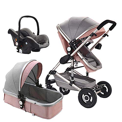 Luxury Infant Baby Stroller 2 in 1 high Landscape Baby Stroller with Car Seat 3 in 1 Baby Carriage Travel System Folding Toddler Seat Stroller Child seat Stroller