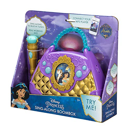 Disney Aladdin Sing Along Boombox with Real Working Microphone Built in Music and Can Connect to MP3 Player by eKids (Image #7)
