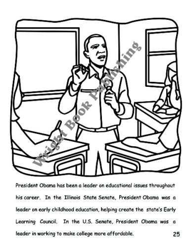 barack obama activity coloring book english and spanish edition brooklyn wright 9780982282205 amazoncom books - Barack Obama Coloring Book