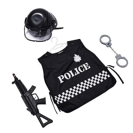 Happyyami 4 piezas traje de policía juego de rol de policía ...