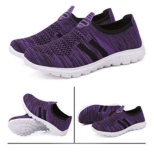 Sport Marche Léger Fitness Baskets Gesimei Chaussures Respirant Maille Femme Course Violet De Homme nSRAwzqO