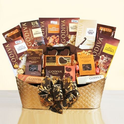 Majestic Winter Romance Godiva Chocolate Gift Basket