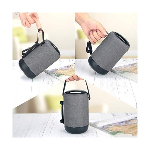 Enceinte Bluetooth Portable, 20W Haut-Parleur Bluetooth sans Fil avec autonomie de 12 Heures, Pilote Double, Basses Puissantes, Mains Libres Téléphone, Carte TF Support, Microphone et Chargement USB 5