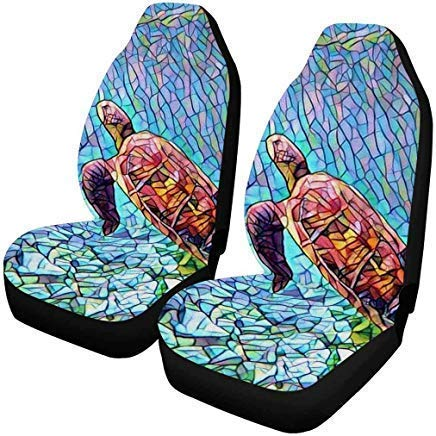 Amazing Interestprint Sea Turtle Ocean Front Car Seat Covers Set Of 2 Car Front Seat Cushion Fit Car Truck Suv Or Van Uwap Interior Chair Design Uwaporg