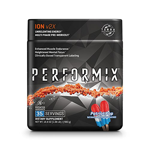 PERFORMIX ION v2X Multi-Phase Pre-Workout, Unrelenting Energy, Enhanced Muscle Endurance, Heightened Mental Focus, Clinically Dosed Transparent Labeling - 35 Servings Patriot Pop by PERFORMIX