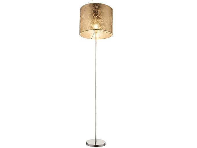 Lámpara de pie de diseño Amy con E27 LED, pantalla de tela ...
