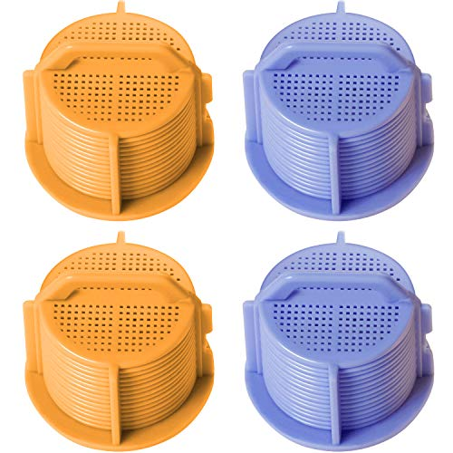 Inlet Filter - Jetec 4 Pieces AGM73269501 Washing Machine Inlet Valve Filter Screen Compatible with LG