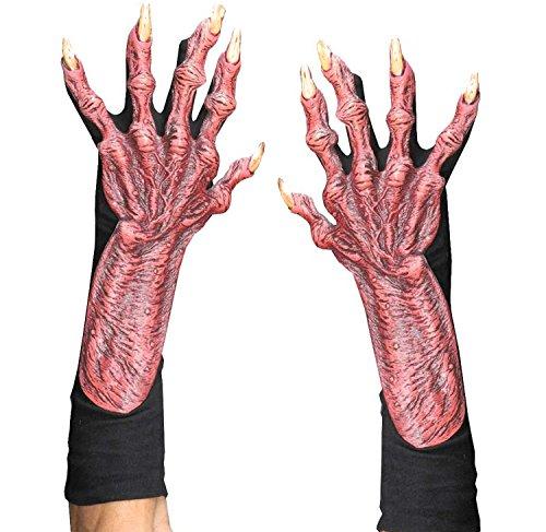 [Zagone Devil Gloves, Red Latex Hands, Black Cotton Gloves] (Latex Devil Mask)