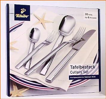 another chance unique design exclusive deals TCM Tchibo Tafel-Besteck 30-tlg. 6 Personen Hochglanz ...
