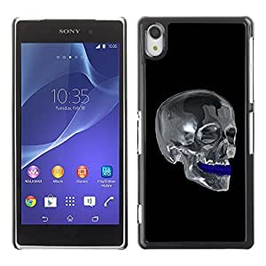 GagaDesign Phone Accessories: Hard Case Cover for Sony Xperia Z2 - Chrome Skull