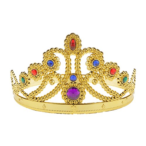 Generic Fancy Gold Kings Queens Crown Royalty Fancy Dress Party Costume Luxury Accessories (Fancy Dress Costumes Adults)