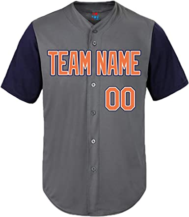 Pullonsy National League - Camiseta de béisbol Personalizada para Hombres y Mujeres jóvenes Bordada su Nombre y números S-8XL – Design Online - Multi Color - 6XL: Amazon.es: Ropa y accesorios
