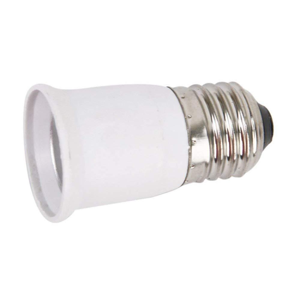 Tcplyn Pratical Lamp Socket E27 Lamp Holder Conversion Holder Flame Retardant PBT Material Screw Conversion Lamp Holder 1 Pcs